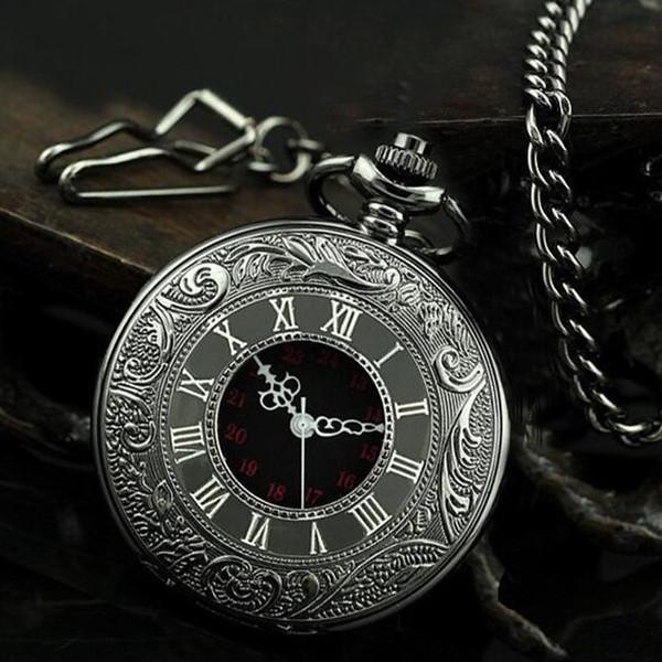 2018 50pcs / lot mix 4Colors classico orologio da taschino romano orologio da tasca vintage Uomo Donna modelli antichi Tuo orologio da tavolo