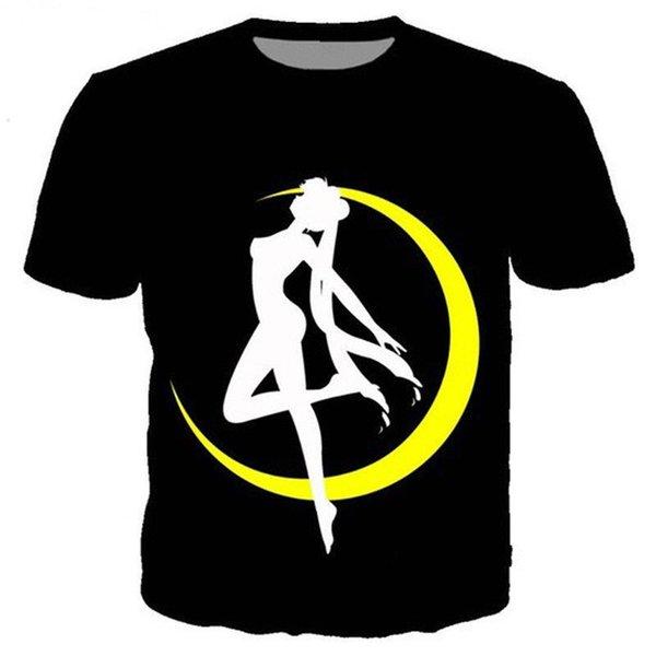 Women/Men Sailor Moon Girl 3D Print Casual T-Shirt Tee Short Sleeve To EB15 2018 New Tee Shirts Printing lovely summer t-shirt Tops