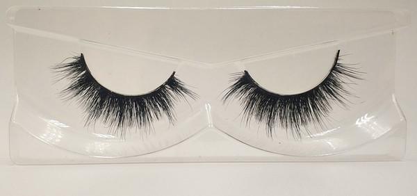 3D Mink False Eyelashes 100% Mink Fur Long Thick Hand-made Reusable Eyelashes Natural 1 Pair Pack MTL128