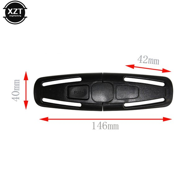 1pcs Black For Car Baby Safety Fixed Lock Seat Clip Buckle Safe Strap Latch Harness Chest Child Toddler Clamp clips
