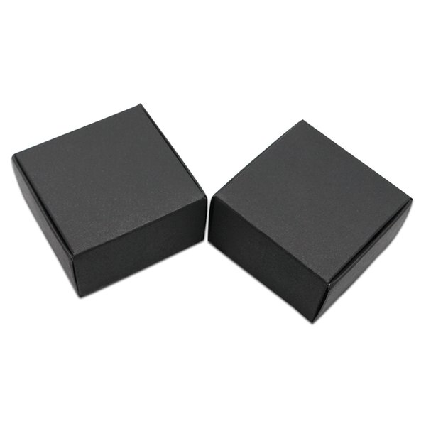 100Pcs 4x4x2.5cm Mini Size Carton Paper Packaging Box Natural Kraft Paper Small Gifts DIY Crafts Packing Box Paperboard Box