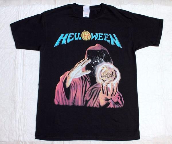 Mens S - 3xl Helloween Keeper Of The Seven Keys Gammaray Iron Saviour New Black T-shirt T Shirt Men 2018 Fashion