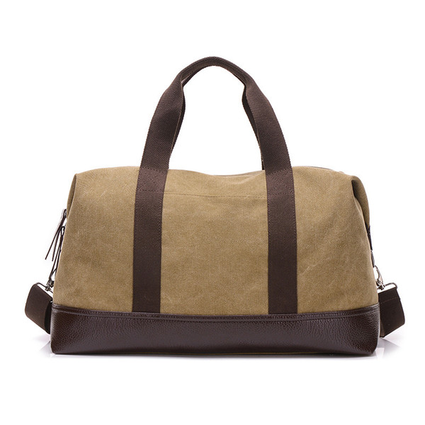 5e09e23e06 New Men Canvas Travel Bag Carry on LuggageBags Duffel Tote Bags Male  Leather Large Capacity Crossbody