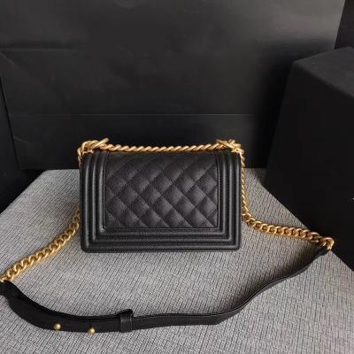 Новый стиль высокое качество cavier кожа плед закрылки сумки на ремне золотая цепь аппаратные сумки кошелек 25,5 см коробка пакет
