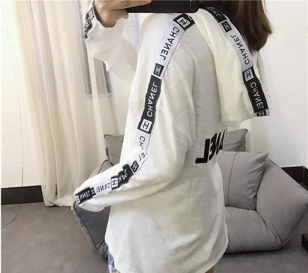 2018 Vetements hoodies Sıcak Yüksek sürüm sonbahar kanye west baskı kat moda hoodies kaykay hip hop Severler beyaz Tişörtü ince