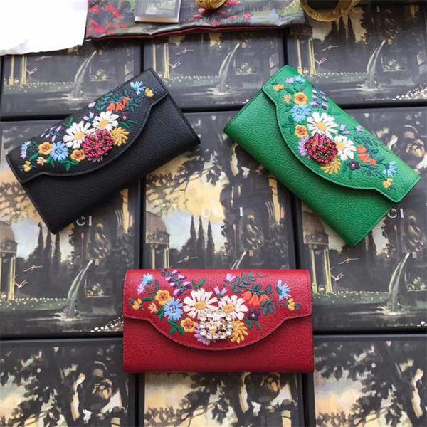 Hot Sale Fashion Wallet Women Leather Luxury Designer Black green red Wallet Ladies handbag Card Holder Girls Coin Purse Female Wallets
