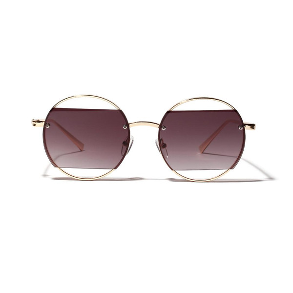 MINCL/ 2019 Sunglasses Women Round Fashion Female Retro Gradient Sunglasses Men Candy Famous Brand Designer Punk Eyeglasses NX