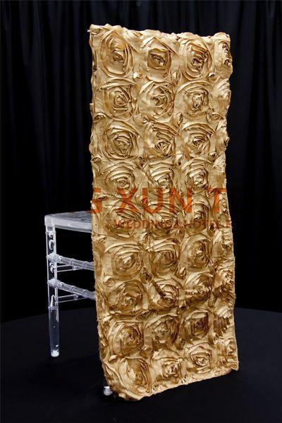 50pcs Lot Satin Rosette Chiavari Chair Cover \ Chair Hood For Wedding Event Decoration