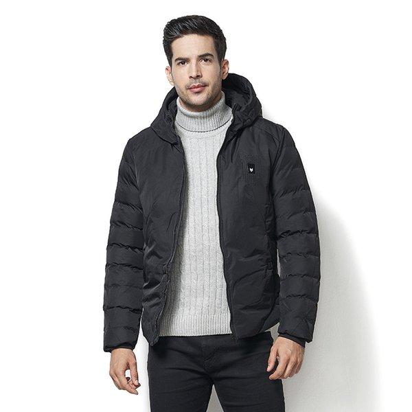 2018 de los hombres de invierno Parka chaqueta de lana gruesa de algodón de alta calidad nueva moda abrigo caliente para hombre con capucha bolsillos Outwear tamaño 4XL