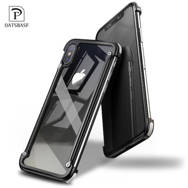 wholesale Airbag Metal Case For iPhone X Case Personality Airbag Shell for iPhone 8/8 Plus Metal Bumper Cover Case For iPhone 7 6