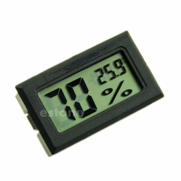 Гигрометр термометр цифровой ЖК-измеритель влажности температуры -50~70 градусов 10%~99% относительной влажности белый черный цвет