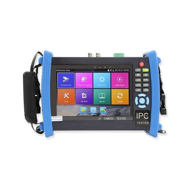 7 Inch H.265 4K IP CCTV Tester Monitor CVBS Cameras Tester HDMI Input ONVIF PTZ control WIFI POE 12V2A Output Cable tracer
