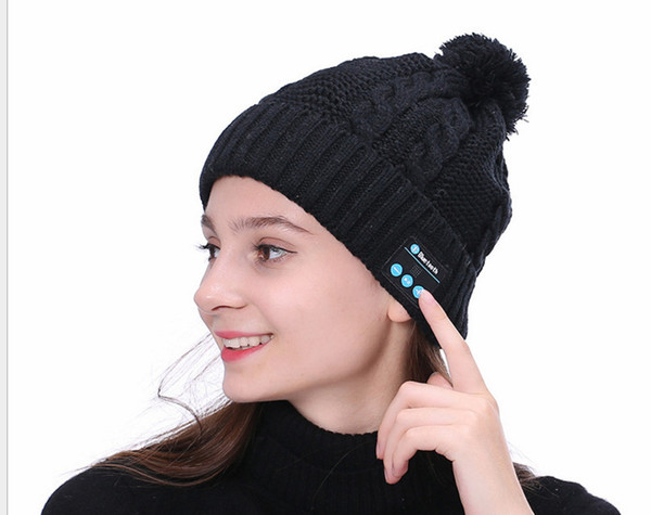 Christmas gift ! New Arrival Bluetooth beanie Hat Cap Knitted Winter Magic Hands-free Music mp3 Hat for woman Men