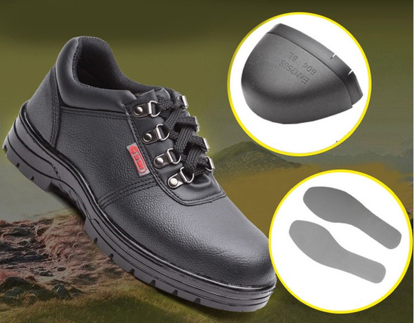 Erkekler Çelik Burunlu Iş Güvenliği Ayakkabı Hakiki Deri Rahat Anti-kick Ayakkabı Açık Delinme Geçirmez Sneaker su geçirmez Güvenlik botları