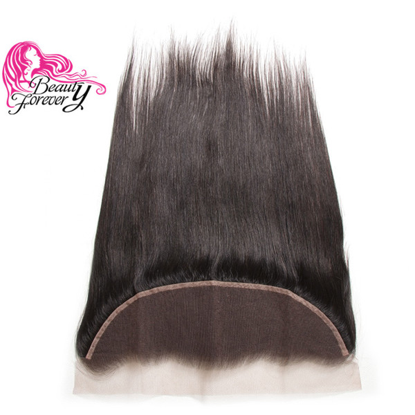 Beauty Forever Virgin Straight Brazilian Hair Lace Frontal 13x4 Ear to Ear Frontal Closure 8A Remy Human Hair Free Part Malaysian Frontal