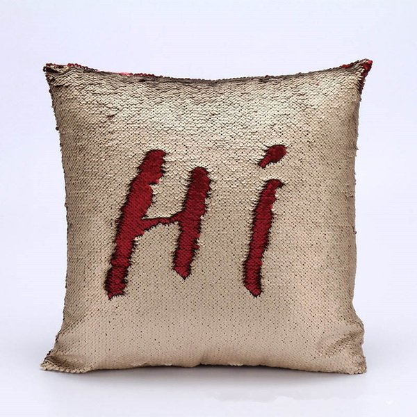Cushion Pillow Case 40*40 cm Sequins Pattern Variable Fashion Style Double Layer and Double Color Home Supplies Free Shipping Random Color