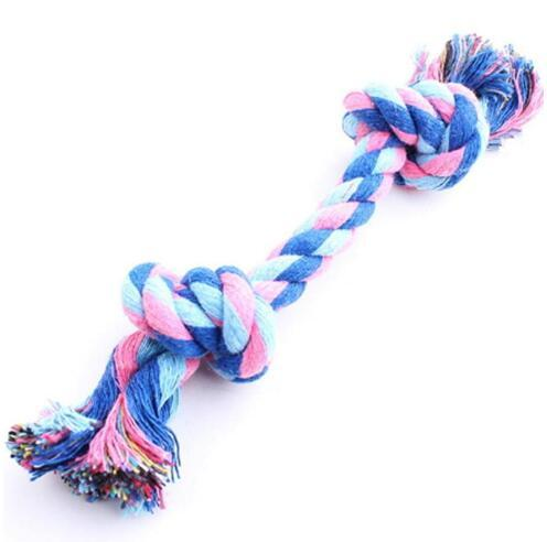 best selling Dog Chew Rope Bone Pet Supplies Puppy Braided Funny Tool Double Knot Toy Pets Chews Knot Play with Dog Tool Home Toy