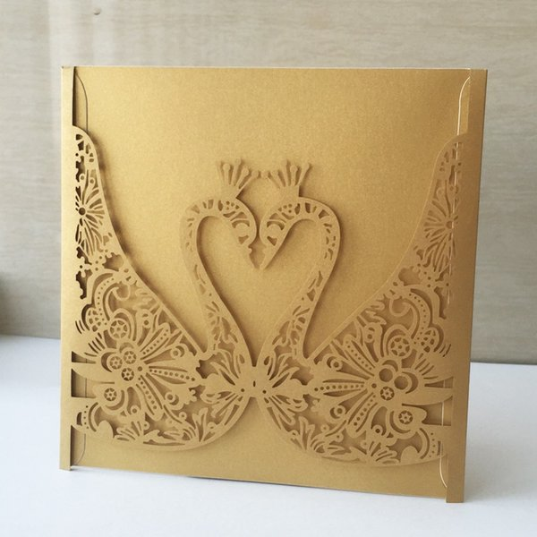 Frases Convite De Casamento Laser Cut Papel Baptismo Baptismo Saudação Bênção Cartão De Cisne Padrão De Convite De Casamento Cartão Postal Cartões De