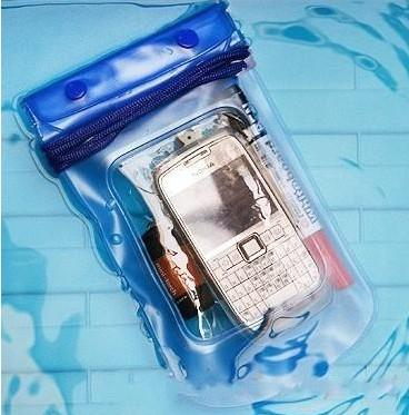 Free shipping Promotion Clear Waterproof Pouch Bag Dry Case Cover For Cell Phone iphone5 Samsung s3 LLFA