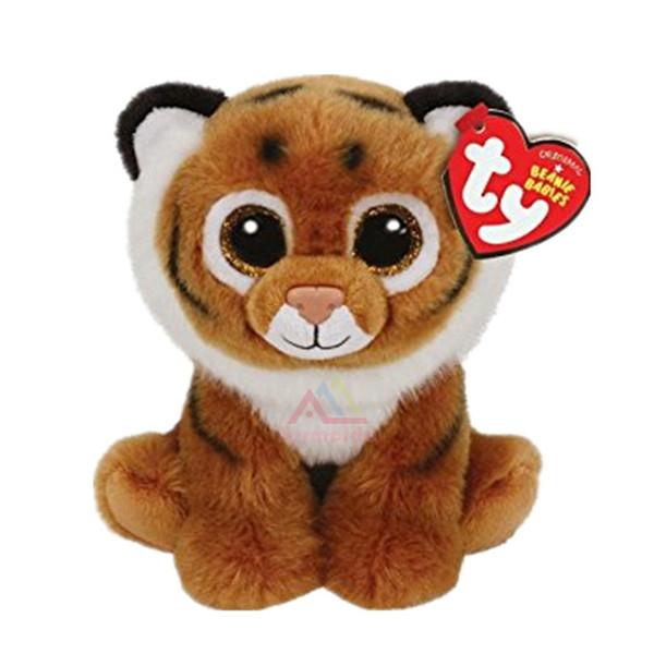 TY 6'' Beanie Boos Brown Tiger Reg Plush Collectible Soft Big Eyes Plush Animal Toys For Kids