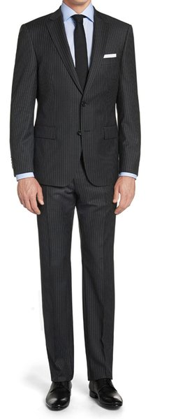 16a254cf062b5a Charcoal Grey Mens Striped Suit Custom Made Charcoal Gray Mens Pinstripe  Suit ,Tailored Single Breasted Striped Suits