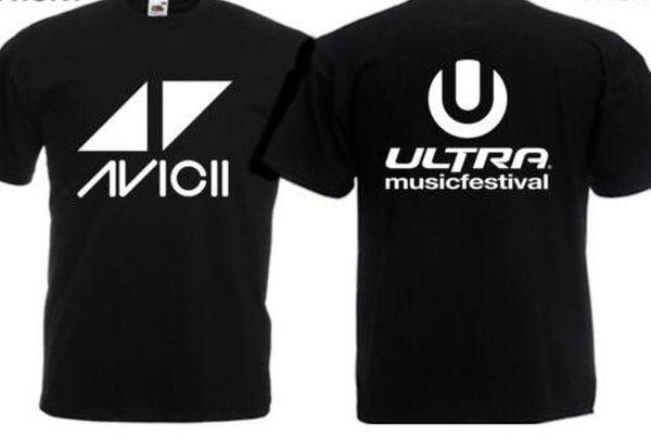 AVICII ULTRA MUSIC FESTIVAL Camiseta AVICII DJ T-SHIRT Cool orgullo casual camiseta hombres moda Unisex camiseta