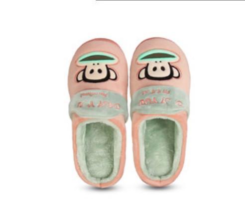 Brand New Home Men Women Pa ul Fr ank Plush Slippers, thick bottom, fashion plush warm cotton slippers.