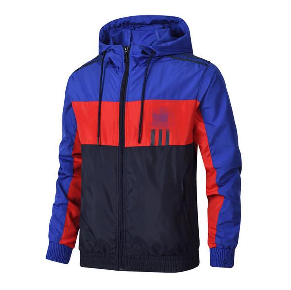 Rayé Mens Vestes Designer Coupe-vent Motif Lettre Imprimer Mince Manteau Printemps Automne À Manches Longues Zipper Vestes Running Sportswear
