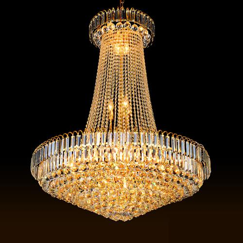 Crystal chandeliers factory direct sales luxury royal high end K9 crystal chandelier hotel lobby villa stairs led chandeliers with bulbs