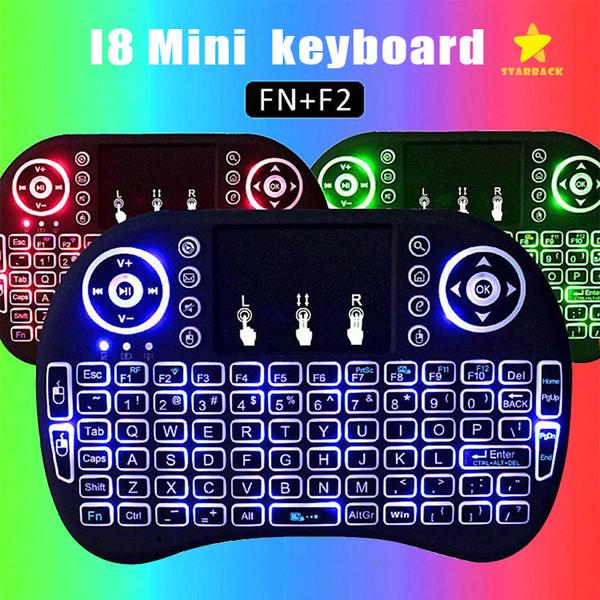 Mini I8 Backlit Wireless Touchpad Tastatur Air Maus Multifunktions Für PC Pad Android TV Box mit Kleinpaket