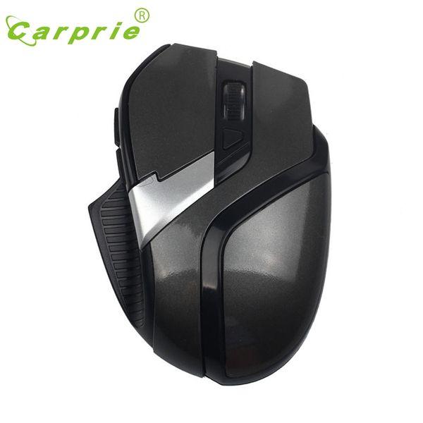 CARPRIE 2.4 GHz 1600 DPI 6 Botões Ergonômico Sem Fio Optical Mouse Ajustável Ratos Jan18 Para PC Laptop QF28 preço de Fábrica