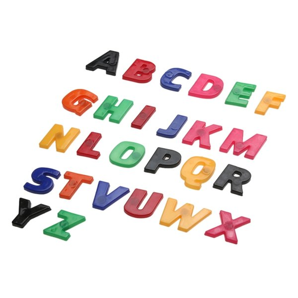 26pcs Colorful Plastic Alphabet Block Baby Educational Toy Used As Fridge Magnets Alphabet Learning and Education Toys for Baby