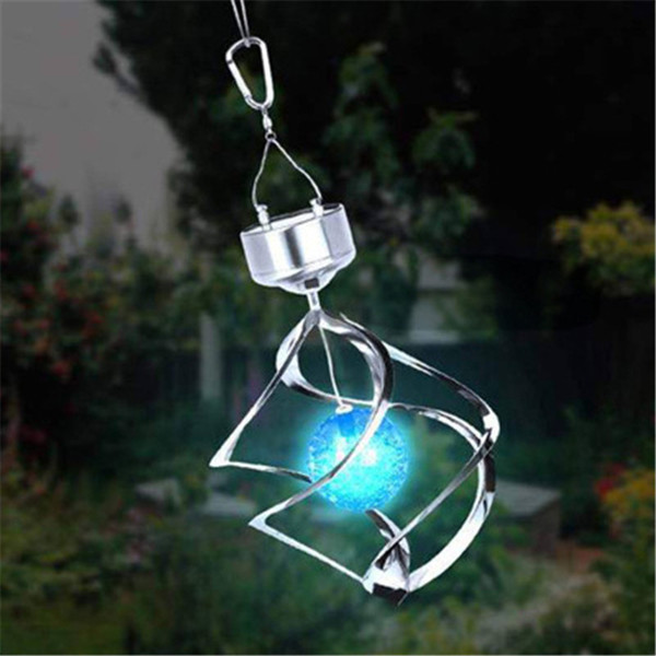 Hanging Wind Chime Light Solar Power Wind Spinner LED Lamp for Night Lighting Indoor Outdoor High Quality Home Decoration Light