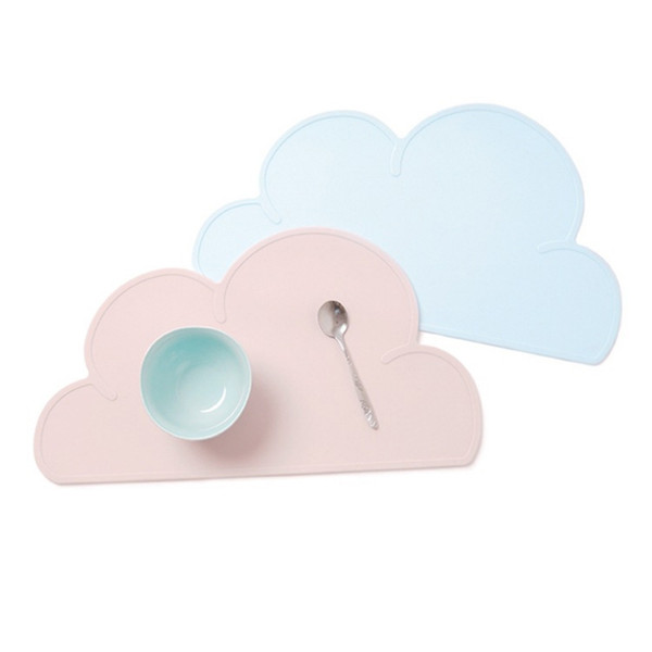 Home Decoration Accessories Modern Baby Flaky Clouds Table Silicone Place Mat INS Supplementary Food Pad Multicolor Placemat