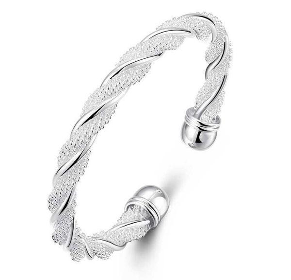 925 silver New 10 piece/lot Product Charm Handmade Bracelet Antique Silver Bracelet Bangles .B0004