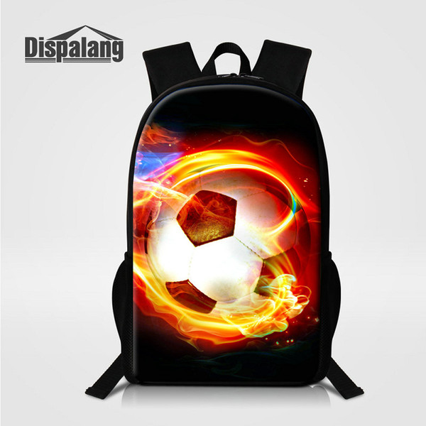 Children School Bags For Elementary Students Football Design Boys Backpack Men's Travel Shoulder Bag Soccer Basketball Printed Male Bagpacks