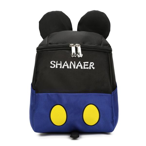 Kids Cartoon Blue School Bag 3D Children Big Backpack For Kindergarten Girls Boys Cute Schoolbag Best Birthday Gift
