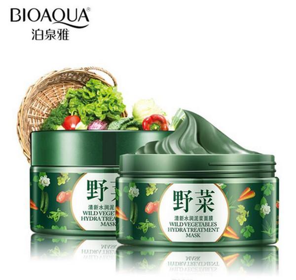 BIOAQUA Brand Vegetables Mud Mask Face Skin Care Deep Cleaning Acne Blackhead Treatment Hydrating Moisturizing Facial Masks Hot Sale