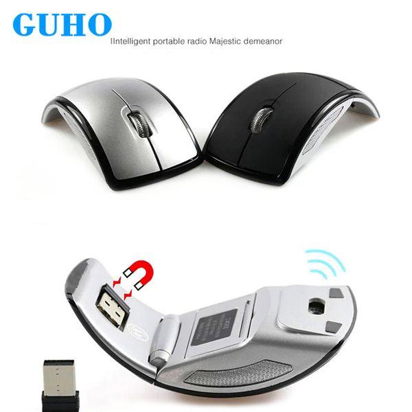GUHO Katlanır Kablosuz Fare 2.4G Bilgisayar Fare Oyun Fareler Dizüstü Dilsiz Mini Fareler USB Nano Alıcı Gamer Dizüstü PC için