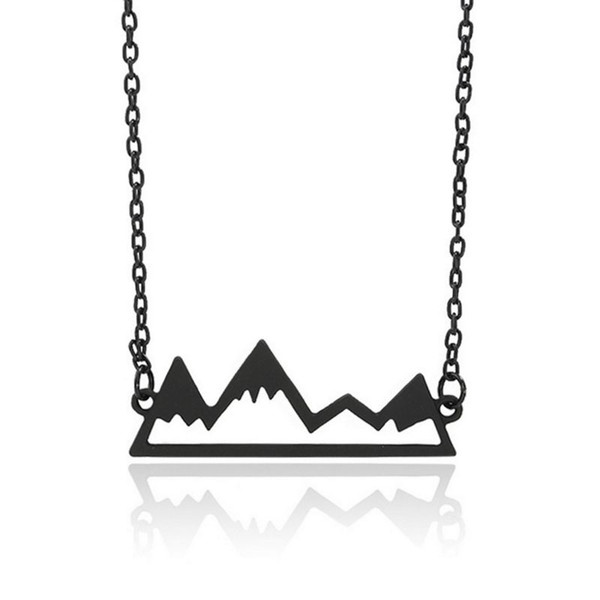 Trending Style Necklace Professional Wholesale Jewelry Gold Silver Mountain Pendant Necklace Alloy Neck Chain For Men Women