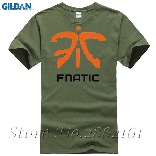 Mens T Shirt New DIY Printed FNATIC Team T-shirt Tournament Jersey Team Uniform CS Short-sleeved Shirts 6.2oz Top Brand Clothing
