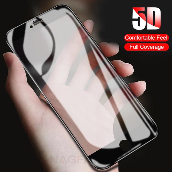 5D полное покрытие края Защитное закаленное стекло для iPhone 7 8 6 6S Plus протектор экрана для iPhone 8 7 6 Plus