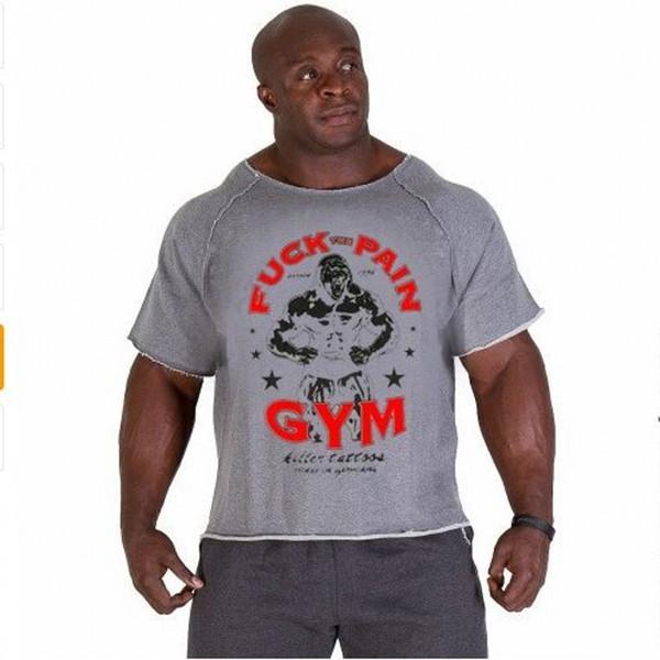 Estate uomo Marchio di abbigliamento Magliette da uomo Golds Fitness Uomo Bodybuilding Gorilla Wear Camicia Maniche a pipistrello Rag top MMA-1 S917
