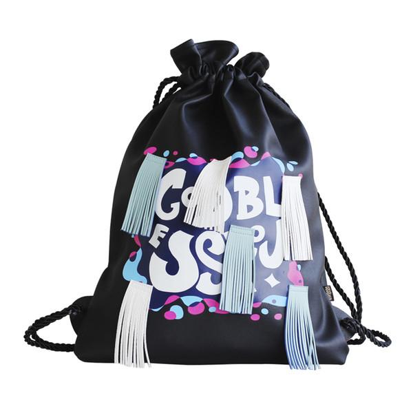 5pcs/set Women Backpack Japanese and Korean Version Of Tassel Bag Soft Leather Shoulder Bag Coin Purse Cell phone pocket Pencil case