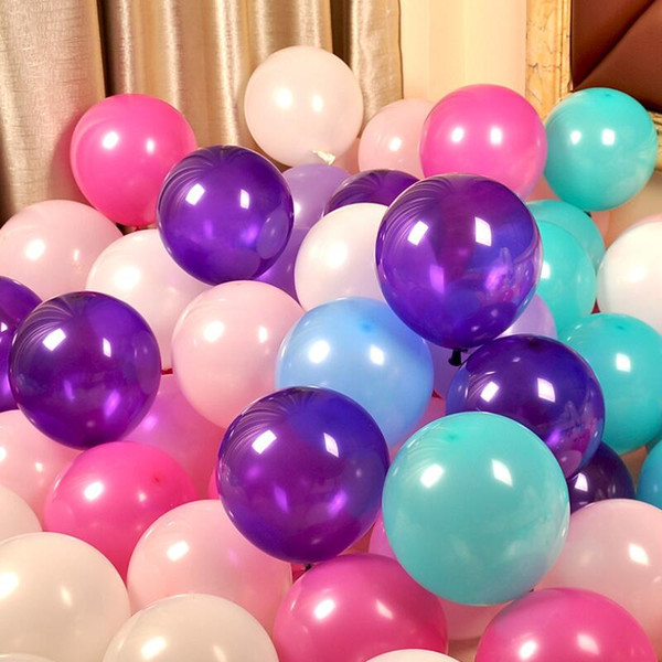200pcs 10'' 2.5g Round Shape Latex Pearl Balloons Party Decorate Valentine's Day Happy Birthday Wedding Decoration Balloon
