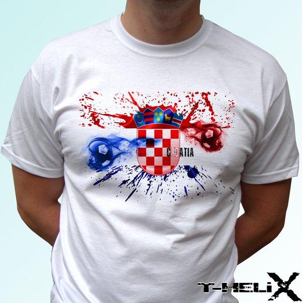 Bandiera calcio Croazia - maglietta bianca top country design - uomo donna bambino bambino