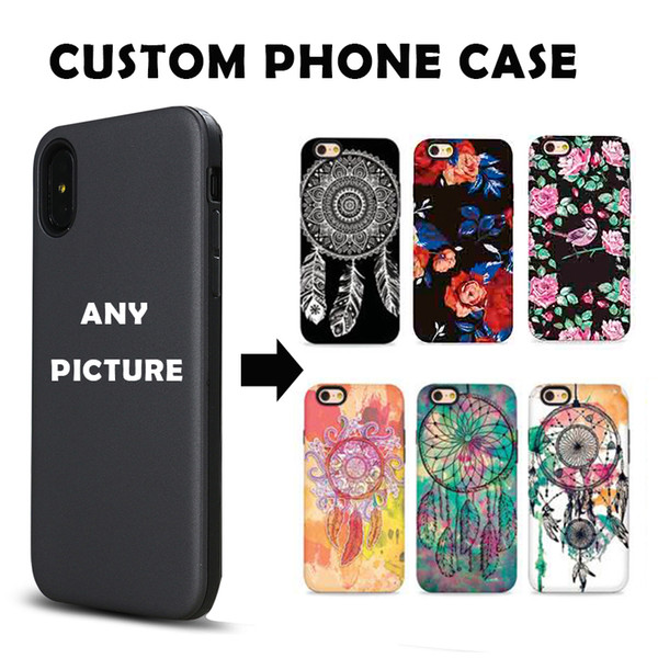 Custom Customize Phone Embossed Case DIY LOGO Print Photo Design Create Design Own Matte Hard Relief Cover for iPhone X 8 Plus Huawei
