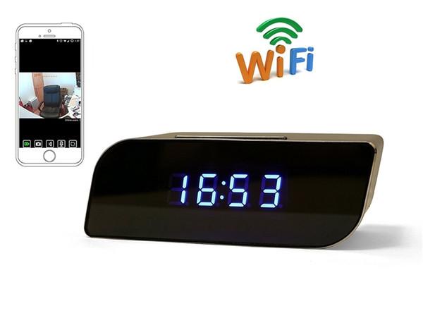 32 GB / 16 GB / 8 GB P2P Wifi Çalar Saat Kamera 1080 P Mini Saat Kamera Güvenlik Gözetim Kameraları Mini Kamera Video Kaydedici