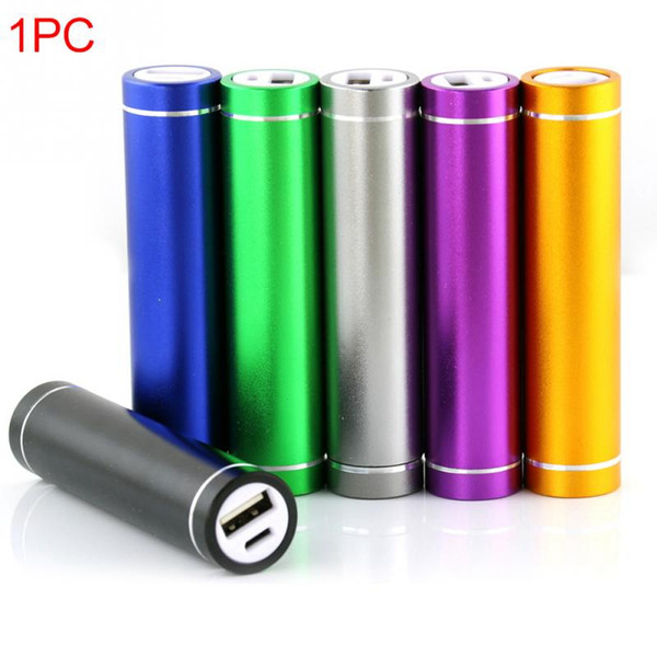 Quality Packed Power Bank Universal 2600mAh Portable Cylinder USB Mobile powerbank External Backup Battery Charger Emergency Power Pack