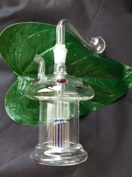 2018 Nuova bottiglia di acqua a forma di fungo Bong di vetro all'ingrosso Bruciatore a olio Tubi di acqua in vetro Rigs per olio Rigs per fumatori